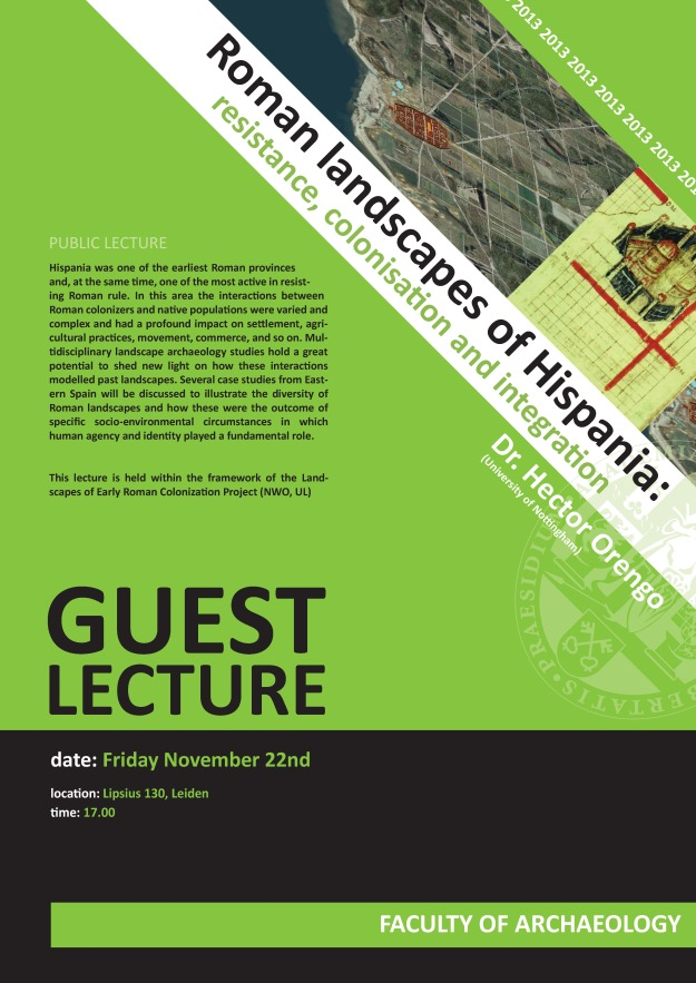 Guest lecture dr. Hector Orengo, Leiden, Nov. 22 2013