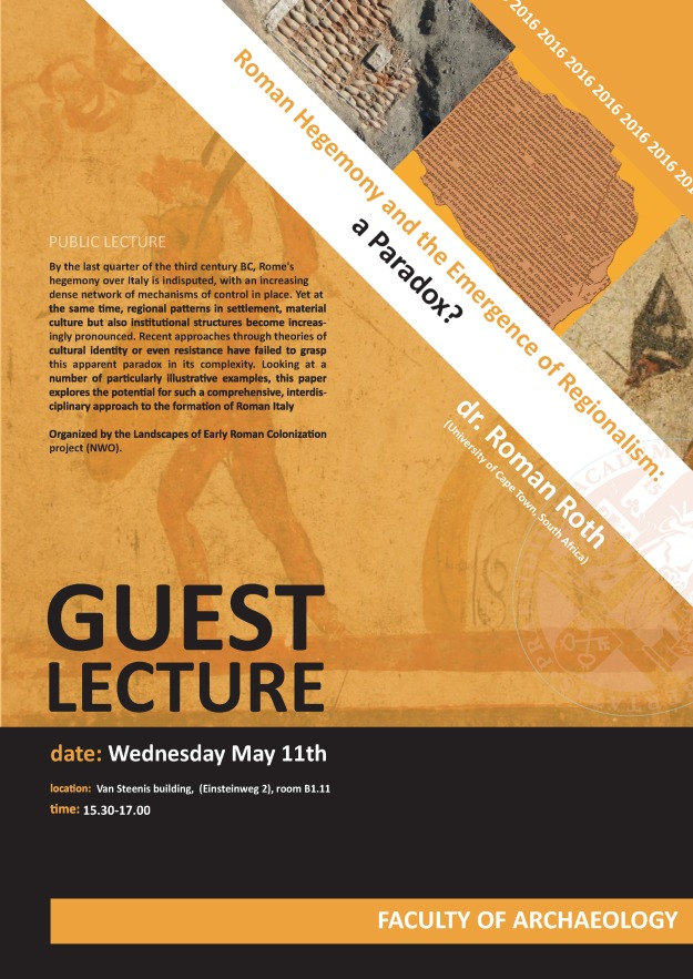 Guest lecture Roman Roth - May 11 2016